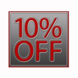 10% Off Discount Offer illustration. 10% Off Discount Offer 3d illustration Royalty Free Illustration