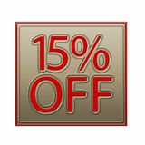 15% Off Discount Offer illustration. 15% Off Discount Offer 3d illustration royalty free illustration