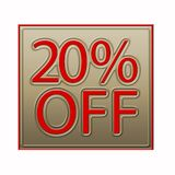 20% Off Discount Offer illustration. 20% Off Discount Offer 3d illustration royalty free illustration