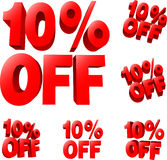 10% off Discount sale sign Royalty Free Stock Photography