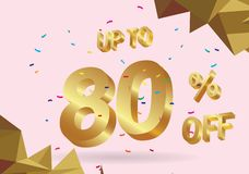 Sale tags discount abstract geometric diagonal concept. 80% OFF Discount Sticker. Sale Red Tag Isolated Vector Illustration. Discount Offer Price Label, Vector vector illustration
