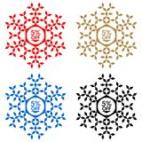 5 Off Discount Sticker. Snowflake 5 Off Sale Royalty Free Stock Photo