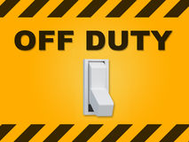 Off Duty concept Royalty Free Stock Image