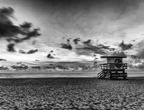 Off Duty. Early morning capture at Miami Beach, Fl.  Perfect time to grab a shot while no one is out enjoying the sun, just yet Stock Images