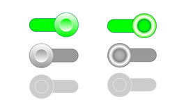 On Off Enable Disable toggle switch icons. Vector illustration Royalty Free Stock Image