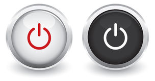 On/Off glossy icon Stock Photo