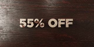 55% off - grungy wooden headline on Maple - 3D rendered royalty free stock image. This image can be used for an online website banner ad or a print postcard royalty free illustration
