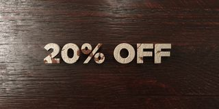 20% off - grungy wooden headline on Maple  - 3D rendered royalty free stock image Royalty Free Stock Photo