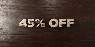 45% off - grungy wooden headline on Maple - 3D rendered royalty free stock image. This image can be used for an online website banner ad or a print postcard royalty free illustration