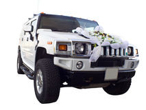 Off-highway car as wedding limousine Royalty Free Stock Photo