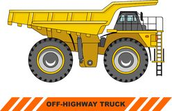 Off-highway truck. Heavy mining truck. Vector Royalty Free Stock Photos