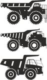 Off-highway trucks. Heavy mining trucks. Vector Stock Photos