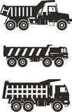 Off-highway trucks. Heavy mining trucks. Vector Royalty Free Stock Photography