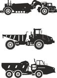 Off-highway trucks. Heavy mining trucks. Vector Stock Photo