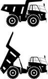 Off-highway trucks. Heavy mining trucks. Vector Stock Images