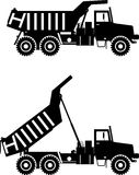 Off-highway trucks. Heavy mining trucks. Vector Stock Photos