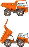 Off-highway trucks. Heavy mining trucks. Vector Royalty Free Stock Photo