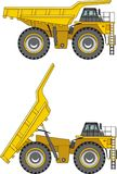 Off-highway trucks. Heavy mining trucks. Vector illustration. Stock Images