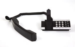 Off the Hook. A modern desk phone - off the hook Stock Photos
