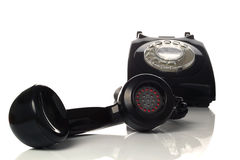 Off the hook old telephone Stock Photos
