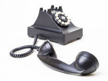 Off the hook - Retro telephone off the hook Stock Image