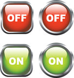 On / Off Icons Stock Image