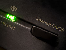 ON/OFF Internet? royalty-vrije stock afbeelding