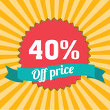 40% off Royalty Free Stock Image