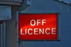 Alcohol store sign Royalty Free Stock Images