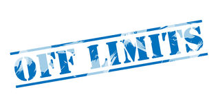Off limits blue stamp. Isolated on white background Stock Photography