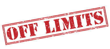 Off limits red stamp. On white background Stock Images