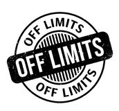 Off Limits rubber stamp Royalty Free Stock Image