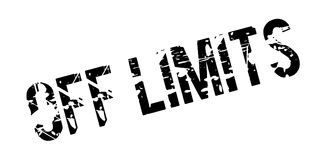 Off Limits rubber stamp Royalty Free Stock Images