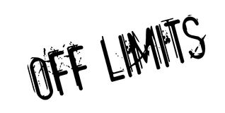 Off Limits rubber stamp Stock Photography
