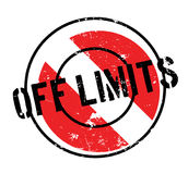 Off Limits rubber stamp Royalty Free Stock Photography