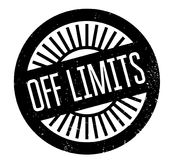Off Limits rubber stamp Stock Image
