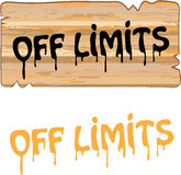 Off Limits wood sign Painted vector Royalty Free Stock Images