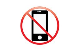 Off Mobile Sign Switch Off Phone Icon No Phone Allowed Mobile Warning Symbol royalty free stock photo