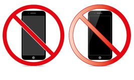 Off Mobile Sign Switch Off Phone Icon No Phone Allowed Mobile Warning Symbol. Illustration of no mobile use icon logo sign cellphone is not allowed and Stock Images