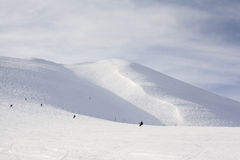 On and Off Piste Ski Slopes in Niseko, Japan Stock Photography