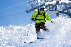 Off-piste Skiing Stock Images