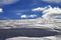 Off-piste slope and snow cornice Stock Image