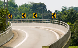 Off Ramp Royalty Free Stock Photo