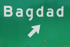 Off ramp to Bagdad Florida freeway sign Stock Photography