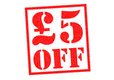 £5 OFF Royalty Free Stock Photos