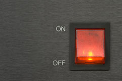 On-off red switch button Stock Photography