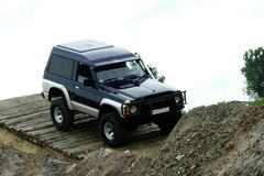 Off road. Nissan patrol during off road competition Stock Image