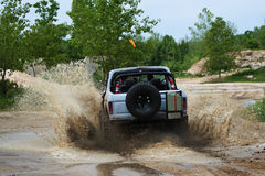 Off road. Extreme activities; off-road ride Royalty Free Stock Image