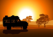 Off Road. Illustration of sport utility vehicle (SUV) on off road Royalty Free Stock Photo