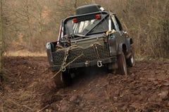 Off-road 4x4 levensstijl en hobby. De motie van het onduidelijke beeld. Stock Foto's